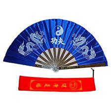 Stainless Steel Dragon Tai Chi Martial Arts Kung Fu Fan Dance Pratice Folding