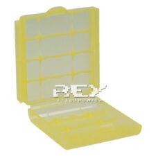 Caja Almacenado Blister Plástico Estuche Amarillo para Pilas AA b01