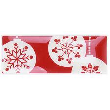 Rectangle Glass Christmas Platter