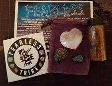FearLess Heart Crystal, Grounding Stone, Meditation, and Connection Kit