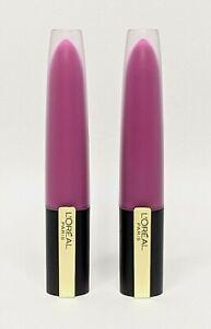 L'Oreal Lipstick Rouge Signature  Matte Lip Stain I Rebel 412 Lot of 2 SEALED