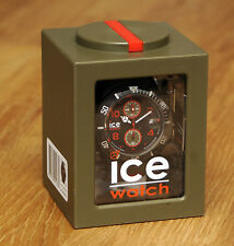 Armbanduhr Ice Watch Ice-Carbon Chrono Black-Khaki Big Big NEU OVP UVP 159,--