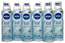 6 Pk Nivea Foaming Silk Mousse Body Wash Creme Soft Vanilla/Jasmine 6.8 oz. Each