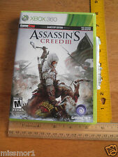 XBox 360 Assassin's Creed III used for less than 2 hours NICE!