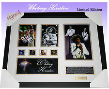 ON SPECIAL!!! Whitney Houston MEMORABILIA SIGNED FRAMED LIMITED 499