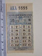 "Hong Kong ""The KMB Co. (1933) Ltd."" 30c Ticket Lucky No. ""AKA 5555"" Rare"