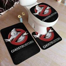 S/3 Ghostbusters DIY Toilet Lid Cover Contour Rug Bath Mat Flannel Comics Decor