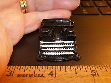 BLACK METAL TYPEWRITER   - DOLL HOUSE MINIATURE