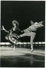 1958 Vienna Ice Revue Moscow Tour Figure Skating Russian Photo postcard #1