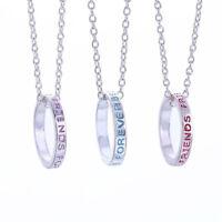 3pcs Friendship Necklace Set BEST FRIENDS FOREVER Print Ring Pendant Necklace