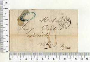 16913) FRANCE 22.1.1847 Stampless Cover Toulouse - Tarn