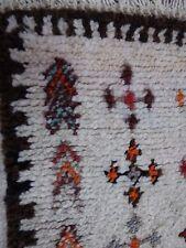 Cream Deep Pile Soft  Woollen Rug 20th Century
