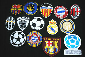 Fotball Patches - Iron/Sew On - International - Home  - Away - 27 Types