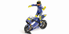 Valentino Rossi Yamaha YZR-M1 Bike and Figure MotoGP Donington 2005