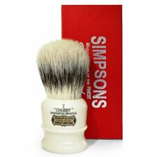 Simpsons  Chubby 2 Synthetic Bristle Faux Ivory Shaving Brush | Free Shipping