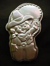 Wilton COWBOY cake pan WESTERN RODEO COWGIRL SHERIFF mold tin rope hat boy ROPER
