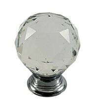 DRAWER KNOBS 10 CRYSTAL DIAMOND CUPBOARD WARDROBE FURNITURE HANDLE
