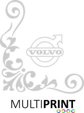 VOLVO 2 Lorry Truck Cab Window Stickers Calligraphy Corner Vinyl Graphics LOR32