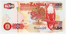2009 Zambia 50 Kwacha Unc 4549326 Paper Money Banknotes Currency