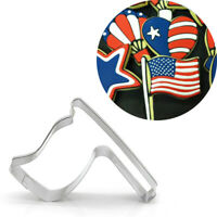 1PC Cookie Cutter Flag Shape Biscuit Mold Mould Home Baking Fondant Cake Tool