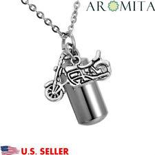 Motorcycle Cylinder Cremation Jewelry Keepsake Urn Necklace Ash Holder Key Chain