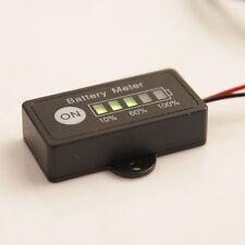 LED Panel 12V Car Battery Meter Indicator Gauge for 12 Volt Lead-Acid Golf Cart