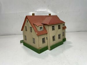 Vintage Ho Scale Model Train Scenery Building Wood Construction House