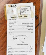 Loose 1.00ct Emerald Cut Diamond GIA K VS2 Sealed Pack