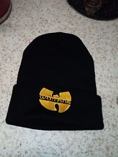 e0583ee6aa9 WU TANG   Black Warm Winter Beanie Hat   Hip Hop