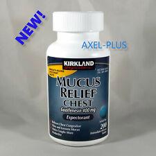 Kirkland Signature Mucus Relief Tablets,  200 Tablets