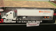 DCP #32106 SUN DELIVERY THOMASVILLE NC SEMI CAB TRUCK & DRY VAN TRAILER 1:64/ FC