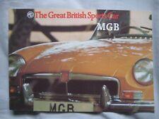 1973-74 MGB Brochure Publication Number 2961
