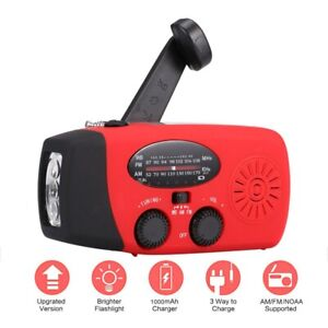 Solar Radio Powerbank LED Dynamo Radio Outdoor Kurbelradio Mit Handyladefunktion