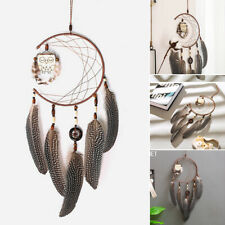 Dream Catcher With Feathers Wooden Owl Wall Hanging Ornament Home Bedroom Gift