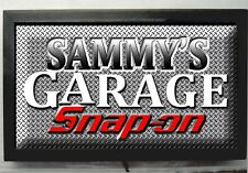 LED LIGHTED SNAP ON TOOLS GARAGE PERSONALIZED BAR SIGN