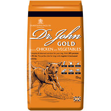More details for dr john gold dry dog food 15kg chicken with vegetables adult working dogs