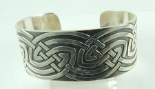 Cuff Bracelet with Celtic Design Sterling Silver .925 Statement Stylish Jewelry