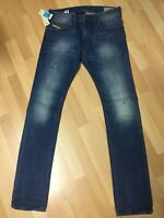 NWD Mens Diesel THAVAR HARD DENIM 0663E DARK Blue Slim W31 L34 H6 RRP£160