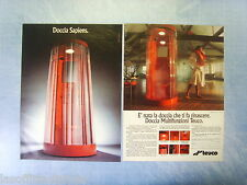 QUATTROR992-PUBBLICITA'/ADVERTISING-1992- TEUCO DOCCIA MULTIFUNZIONI -2 fogli