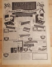 Amstrad stereo 8000 2000 system 1978 press advert Full page 28 x 39 cm poster