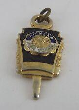 Vintage Enamel Gold Tone Pioneer High School Fraternal Membership Key