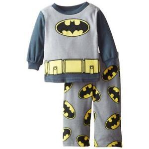 Batman Toddler Boys Gray Micro Fleece 2pc Pajama Pant Set  2T 3T 4T $34