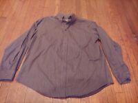 Merona Brown checkered Button Down Shirt Size XL