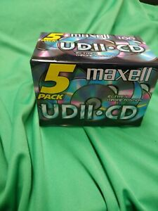 New pack of 5 Maxwell UDII-CD cassette tapes