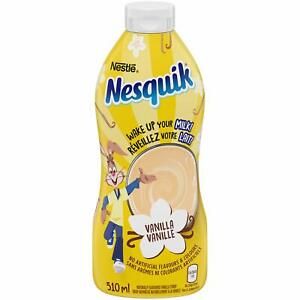 Nestle Nesquik Vanilla Syrup, 510 ml/ 17.2 fl oz., {Imported from Canada}