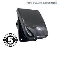 15A AMP Power Outlet Socket For RV, Caravan, Motor Home Black Colour