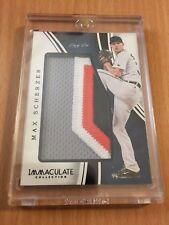 2016 Immaculate Detroit Tigers Max Scherzer 1/1 Prime 4-Color Jumbo Patch WOW!!!