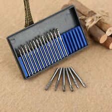 20pcs 1 Set Tungsten Solid Carbide Mini Burrs Drill Bits For Grinder Rotary Tool