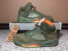AIR JORDAN 5 RETRO LS Army Olive UNDFTD Nike V 1 3 4 6 7 8 11 Supreme DB Fear 10