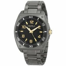 Caravelle New York by Bulova Men's 45A118 Japanese Quartz Black Watch